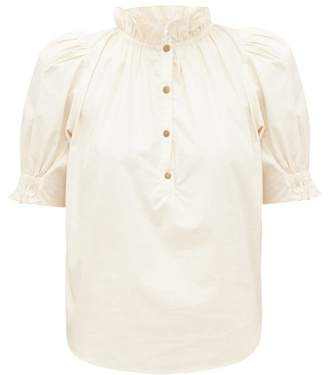 Apiece Apart Los Altos Ruffled Cotton Blouse - Womens - Cream