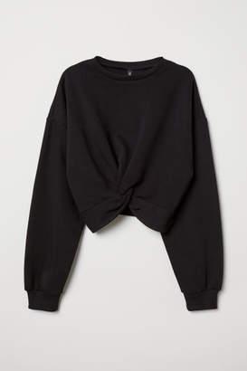 H&M Tie-detail Sweatshirt - Black
