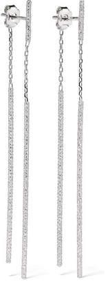 Carolina Bucci Double Magic Wand 18-karat White Gold Earrings