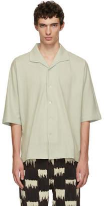 Issey Miyake Homme Plisse Green Raw Shirt