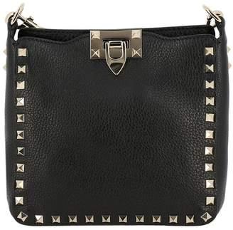 Valentino GARAVANI Mini Bag Rockstud Spike Bag In Grained Leather With Metal Studs And Removable Shoulder Strap