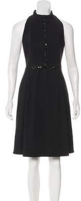 Akris Punto Sleeveless Mock Neck Dress