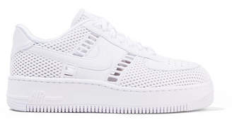Nike Air Force I Upstep Leather And Mesh Sneakers - White