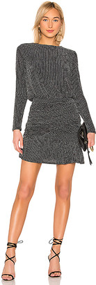 Krisa Drape Skirt Long Sleeve Mini Dress