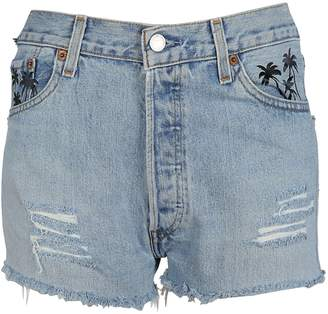 Chiara Ferragni Eye Patch Denim Shorts