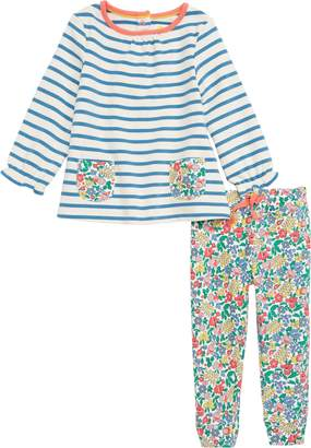 Boden Mini Supersoft Stripe Tee & Leggings Set