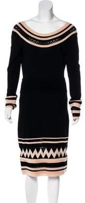 Temperley London Long Sleeve Knee-Length Dress w/ Tags