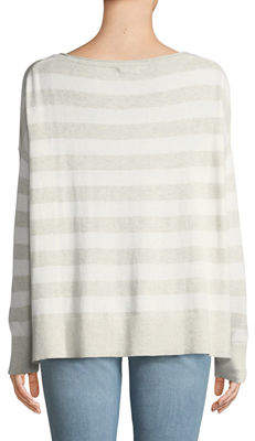 NYDJ Drop-Shoulder Striped Pullover Tee