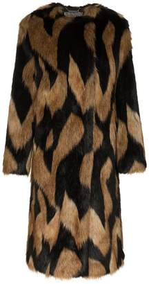 661a95fa24d3 Black And Brown Shearling Coat - ShopStyle