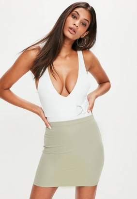 Missguided Ribbed Mini Skirt