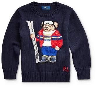Ralph Lauren Boys' Ski Bear Sweater - Little Kid