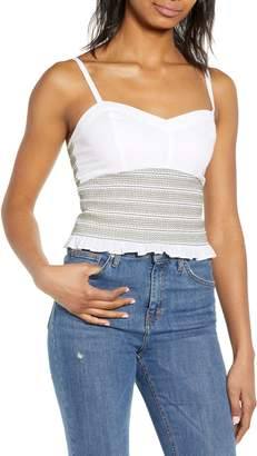 BP Smocked Crop Top