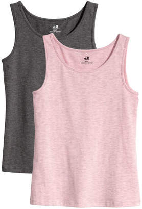 H&M 2-pack Tank Tops - Pink