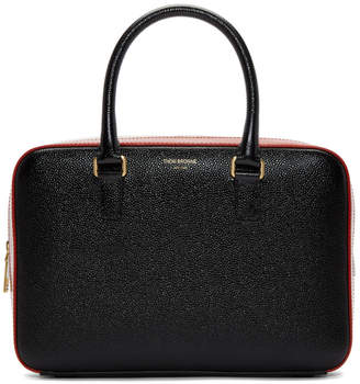 Thom Browne Black Junior Tricolor Business Duffle Bag