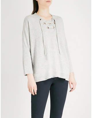Claudie Pierlot Laced wool-blend jumper