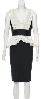 Marchesa Knee-Length Silk Dress