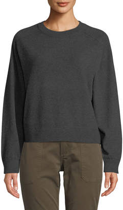 Vince Crewneck Long-Sleeve Cashmere Pullover Sweater