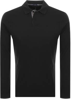 Barbour Long Sleeved Sports Polo T Shirt Black