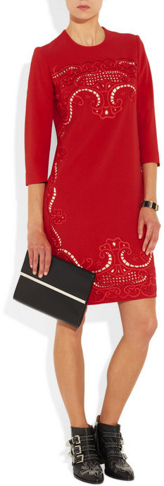 Preen by Thornton Bregazzi Ember embroidered stretch-crepe dress