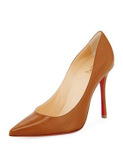 Christian Louboutin  Christian Louboutin Decoltish Point-Toe Red Sole Pump, Safari