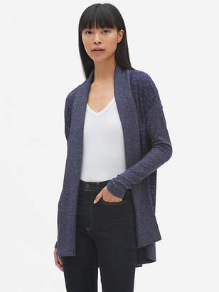 Gap Softspun Open-Front Shawl Collar Cardigan Sweater