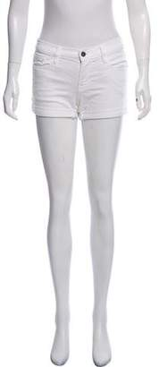 Frame High-Rise Wide-Leg Shorts