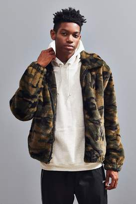 Urban Outfitters Camo Faux Fur Bomber Jacket