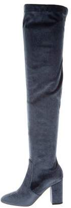 Aquazzura Velvet Thigh-High Boots