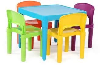 Tot Tutors Plastic Table & 4 Chairs - Aqua