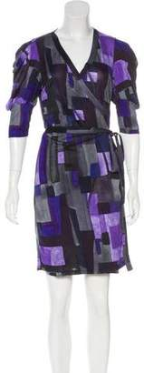 Armani Exchange Printed Wrap Dress