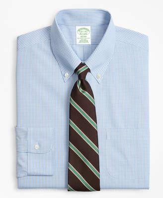 Brooks Brothers Milano Slim-Fit Dress Shirt, Non-Iron Sidewheeler Gingham