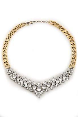 Iosselliani Burnished Gold-Tone Crystal Necklace