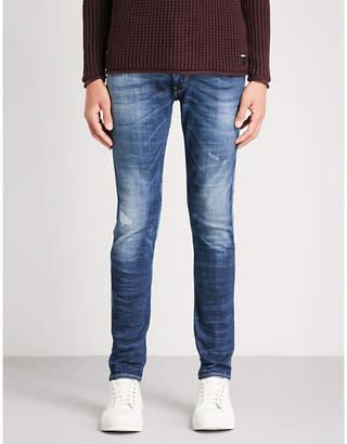 Replay Anbass Rip Repair slim-fit skinny jeans