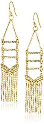 Rebecca Minkoff Pave Fringe Gold Chandelier Drop Earrings