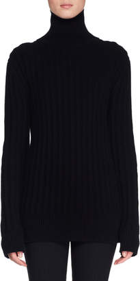 The Row Marton Turtleneck Long-Sleeve Cashmere Sweater