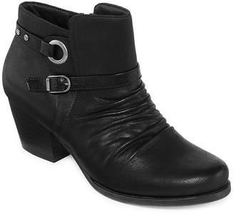 Yuu Womens Regina Booties Stacked Heel