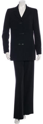 Chanel Satin-Trimmed Wool Pant Suit $595 thestylecure.com