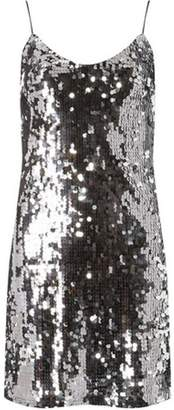Dorothy Perkins Womens **Silver Sequin Slip Dress