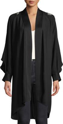Diane von Furstenberg Deon Embellished Long-Sleeve Kimono