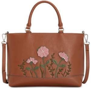 Giani Bernini Saffiano Flower Satchel, Created for Macy's