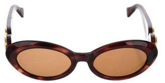 Gianni Versace Medusa Oval Sunglasses