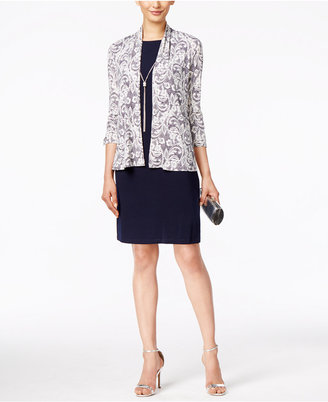 Jessica Howard Printed Sequined Jacket and Sheath Dress $109 thestylecure.com