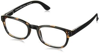 Peepers Men's Worldwide - Gray Tortoise/Brown 2441200 Square Reading Glasses