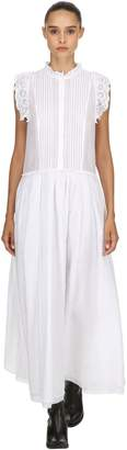 Zadig & Voltaire Cotton Long Dress W/ Lace Trim