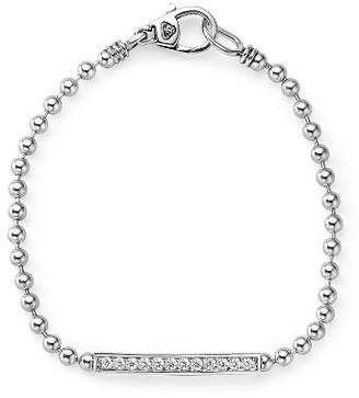 Women's Lagos Caviar Spark Diamond Bar Chain Bracelet $750 thestylecure.com