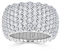 ZYDO 18k White Gold Diamond Stretch Ring, Size 7