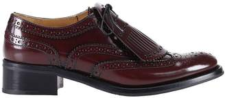 Church's Oxford Shoes Constance R Oxford In Polished Leather With Fringe And Brogue Pattern