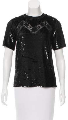 Ashish Silk Sequined Top