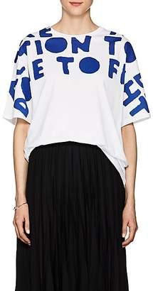 Maison Margiela Women's Special-Edition AIDS Cotton T-Shirt - White