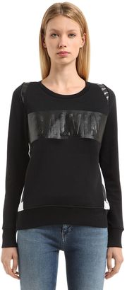 Printed Cotton French Terry Sweatshirt $133 thestylecure.com